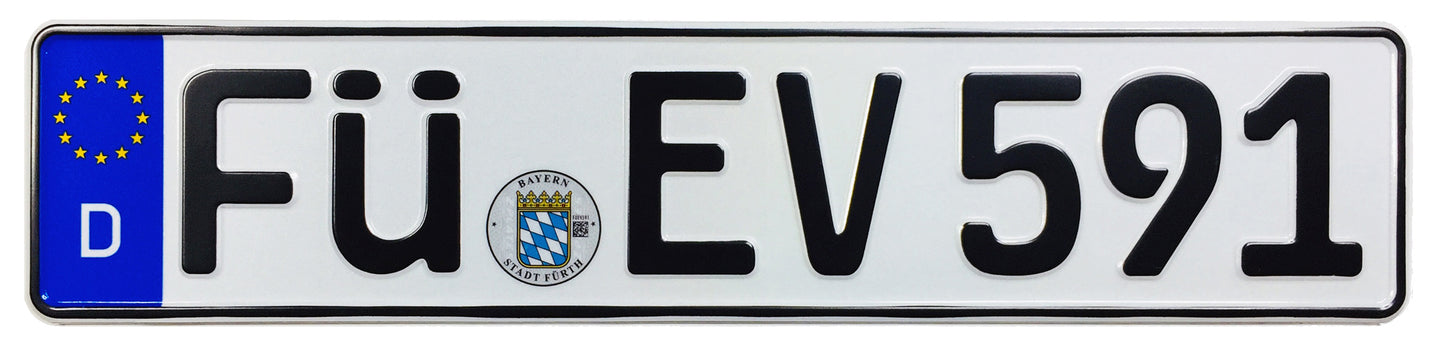 Fürth German License Plate (FÜ)