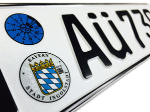 Audi Ingolstadt German License Plate