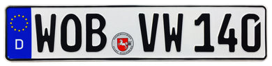 VW Wolfsburg German License Plate