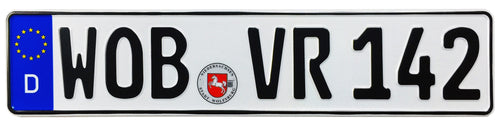 Wolfsburg German License Plate
