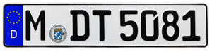 Munich German License Plate