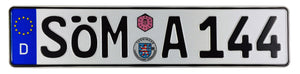 Sömmerda German License Plate