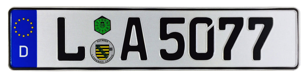 Leipzig German License Plate