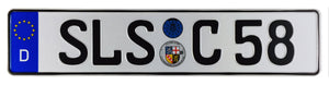 Saarlouis German License Plate