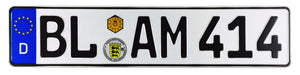 Balingen German Euro License Plate