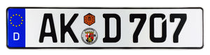 Altenkirchen German Euro License Plate