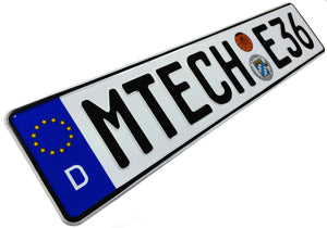 MTECH E36 German License Plate compatible with BMW