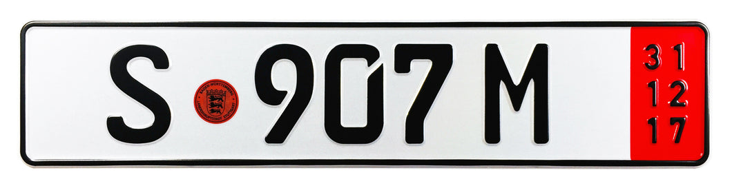 Stuttgart Export German License Plate for Mercedes-Benz, Porsche