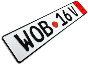 Wolfsburg Export German License Plate for VW