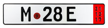 Munich Export German License Plate compatible with BMW