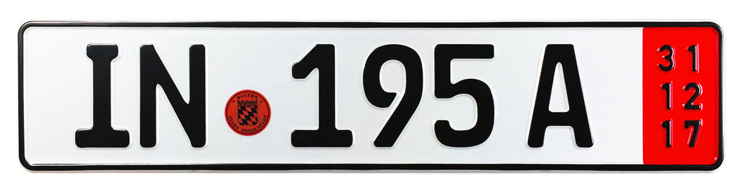 Ingolstadt Export German License Plate for Audi