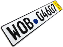 Wolfsburg Temporary German License Plate for VW