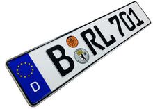 European German License Plate - Berlin