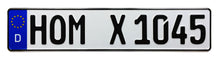 German License Plate