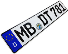 European German License Plate