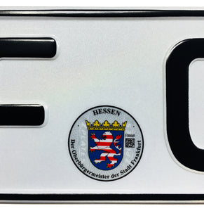 European German License Plate - Frankfurt