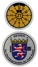 Kassel - German License Plate Registration Seal (KS)