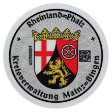 Mainz-Bingen - German License Plate Registration Seal (MZ)