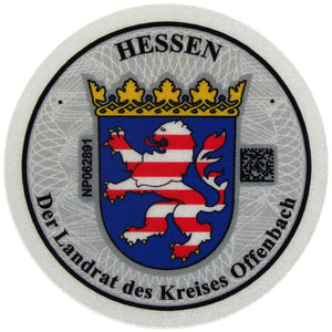 Offenbach - German License Plate Registration Seal (OF)