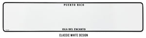 Puerto Rico Embossed Custom License Plate