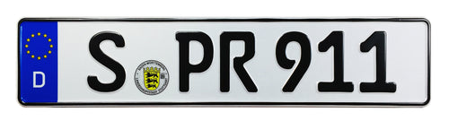 Porsche 911 Front German License Plate