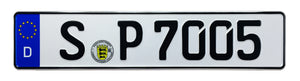 Porsche Stuttgart German License Plate