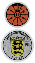Police German License Plate Registration Seal