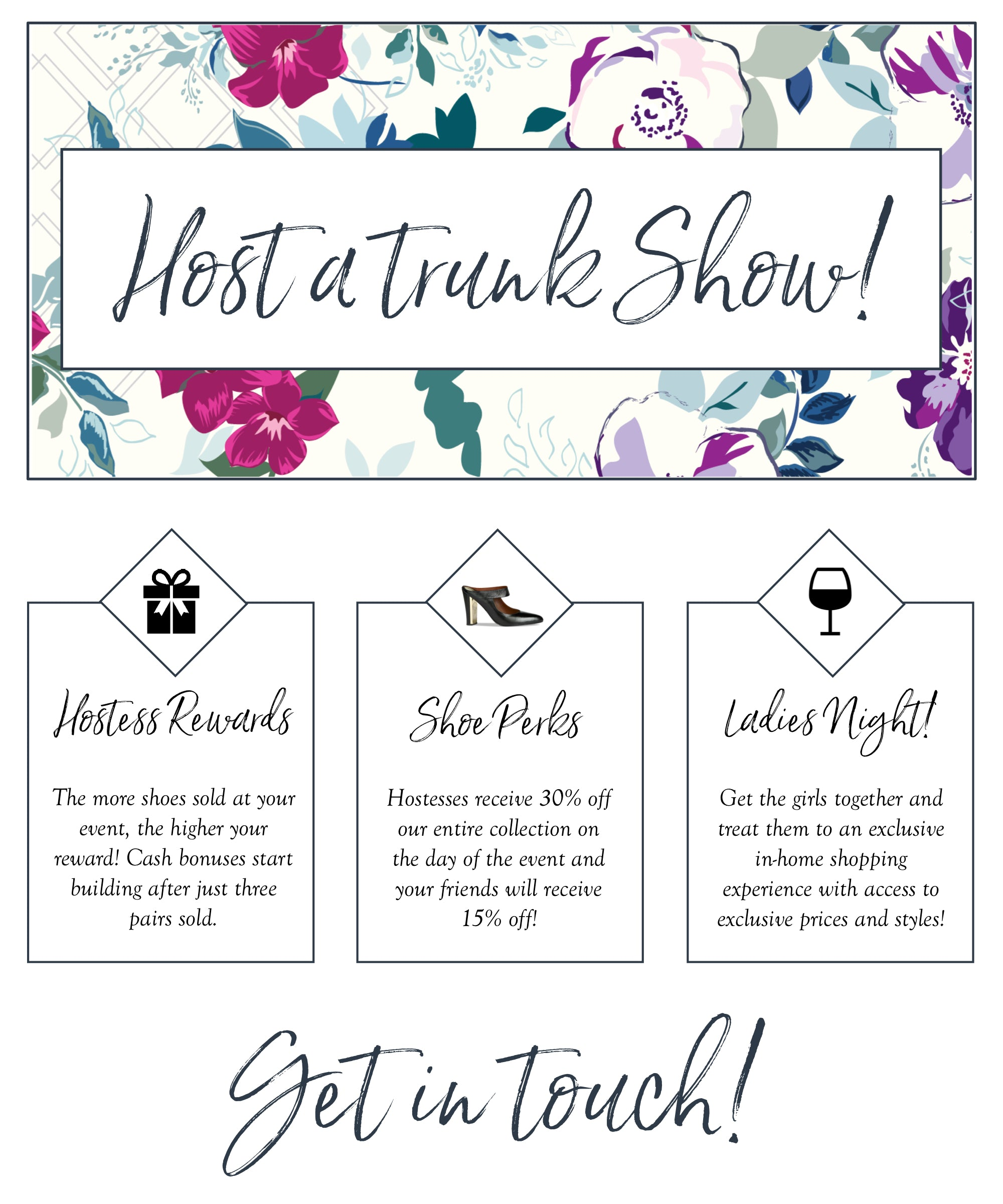 JJUSA Trunk Show In-Home Events