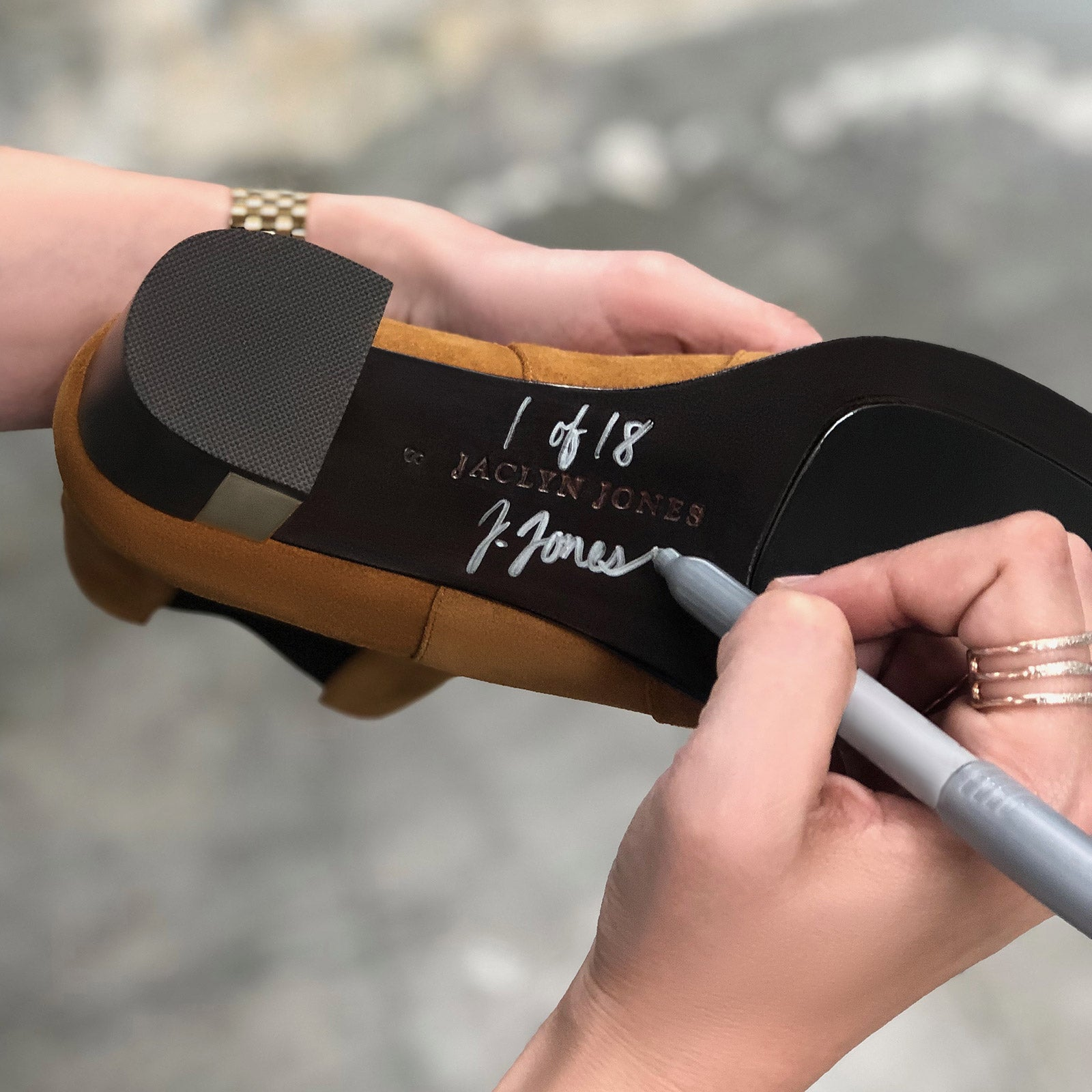 Shoes Signature on the bottom