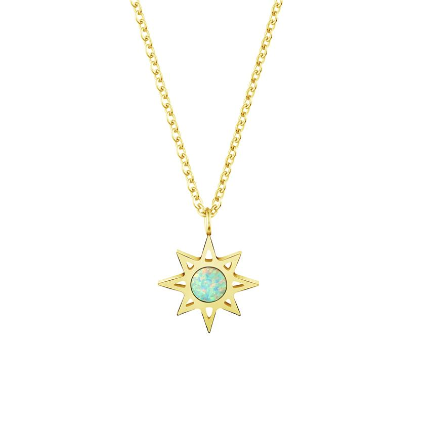 necklace normal star forever gold lucky metallic product goldclear lyst in lariat north pendant jewelry