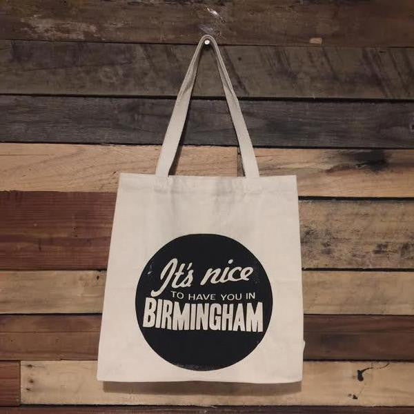 """It's Nice To Have You In Birmingham"" Tote Bag (Set of 6)"