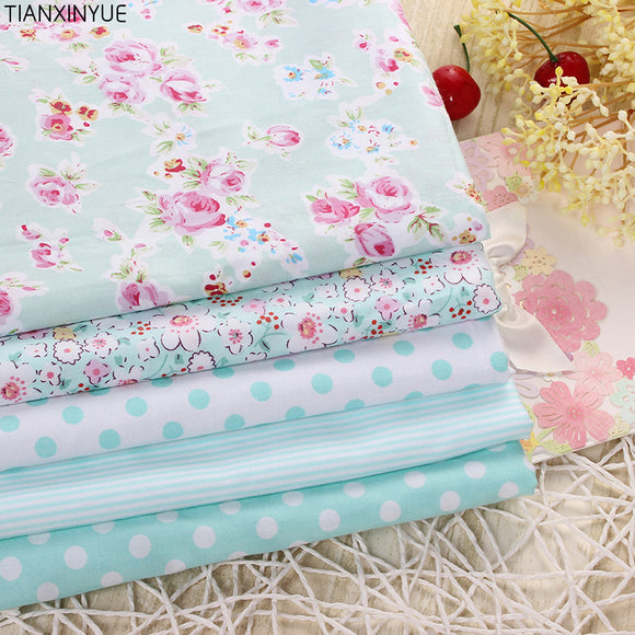 Victoria Rose flower fabric 95% Cotton Fabric for Patchwork Sewing farbic Telas Tissus Dot cushion Cloth 5pcs 40cm*50cm