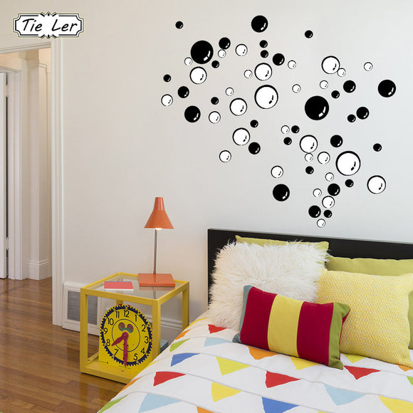 TIE LER Nursery Kitchen Bathroom Bubble Wall Sticker Removable Waterproofing Home Wall Decal PVC Wall Sticker