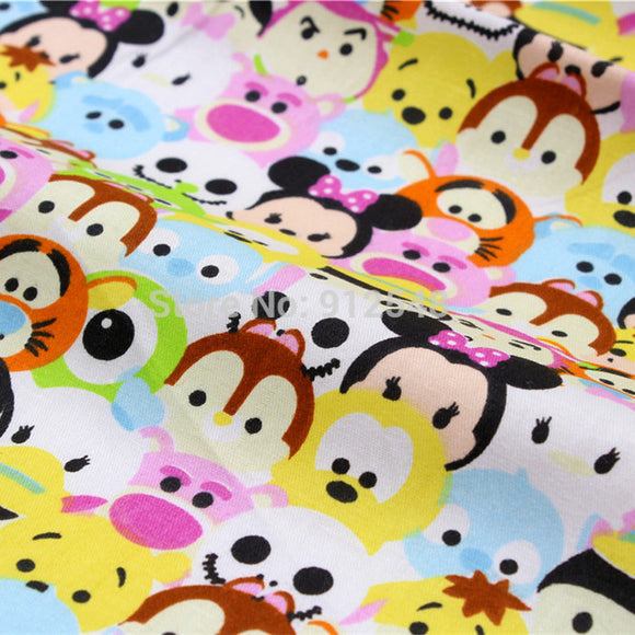 151219105 , 50cm*150cm Cute cartoon characters, super children like cotton fabric,handmade patchwork cotton cloth home textile