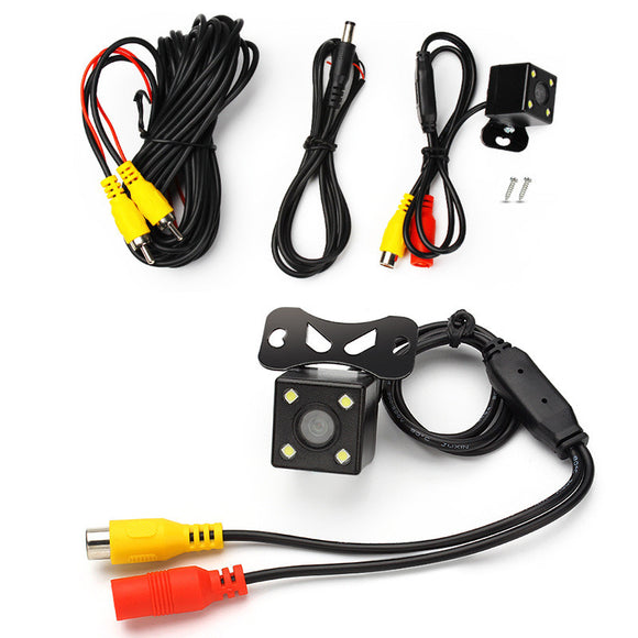 Rear View Camera Waterproof Full HD CCD Car Rear Camera 4 LED Night Vision Car Parking Assistance Universal Parktronic Camera