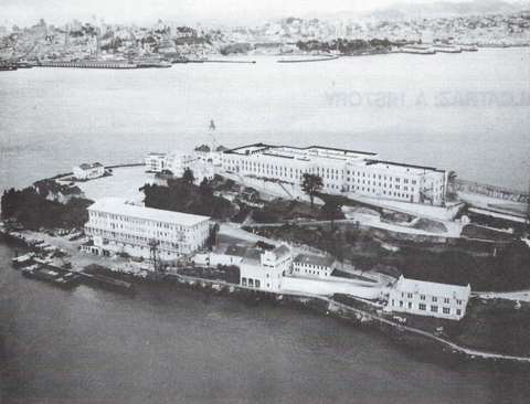 Photo above Alcatraz Island