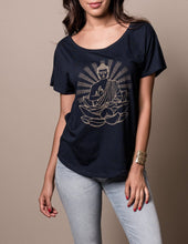 Buddha Tee Shirt with Gold Design Fair Trade