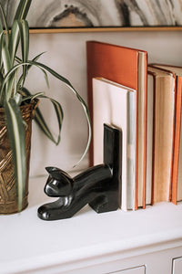 Playful Cat Bookends