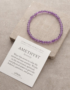 Amethyst Serenity Gemstone Fair Trade Bracelet Gift