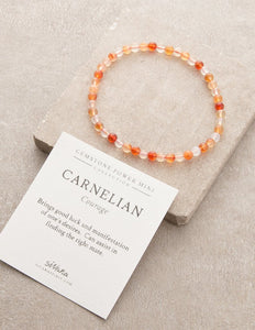 Carnelian Courage Gemstone Fair Trade Bracelet Gift