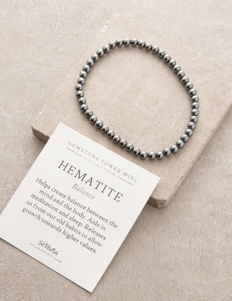 Hematite Balance Gemstone Fair Trade Bracelet Gift