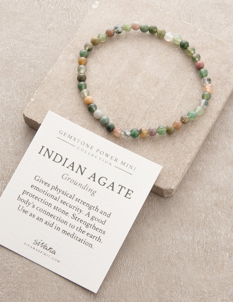 Indian Agate Gemstone Fair Trade Bracelet Gift