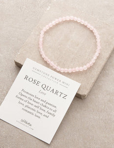 Rose Quartz Love  Gemstone Fair Trade Bracelet Gift