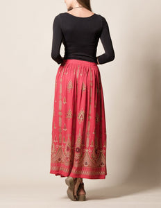 Red Jyoti Fair Trade Skirt