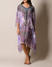 Lavender Love Flowy Katan Float Casual pattern Dress