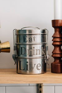 """Eat, Drink, Live"" Tiffin"