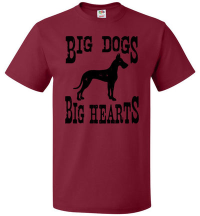 Men's Husky Fit Crew - Big Dogs Big Hearts Cropped Ears