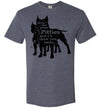 Men's Husky Fit Crew - Show Me Your Pitties Cropped Ears