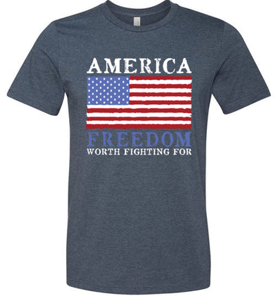 Men's Athletic Fit Crew - Freedom Worth Fighting For