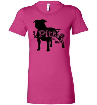 Ladies Junior Fit Crew - I Pittie The Bulls